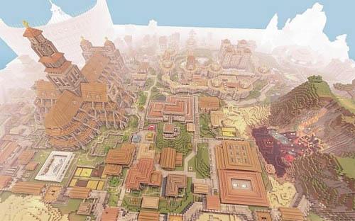 Medieval / Fantasia Mapa para Minecraft - Catedral, Castelo, Esgotos