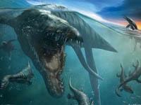 Dinossauros - Natação Dinossauros no mar