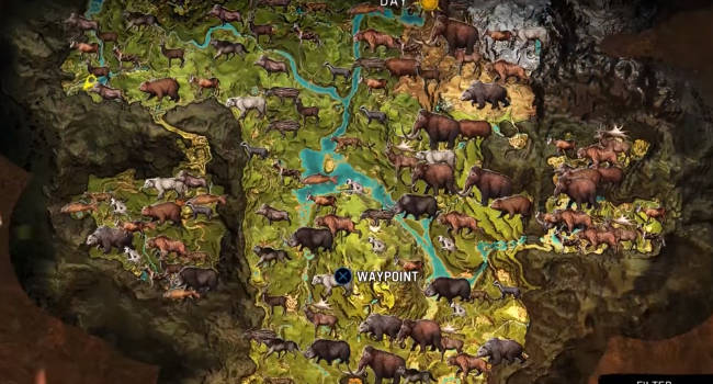 Far Cry Primal All Animal Map Locations Where To Find Tamable