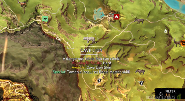 Cave Lion - Map Location