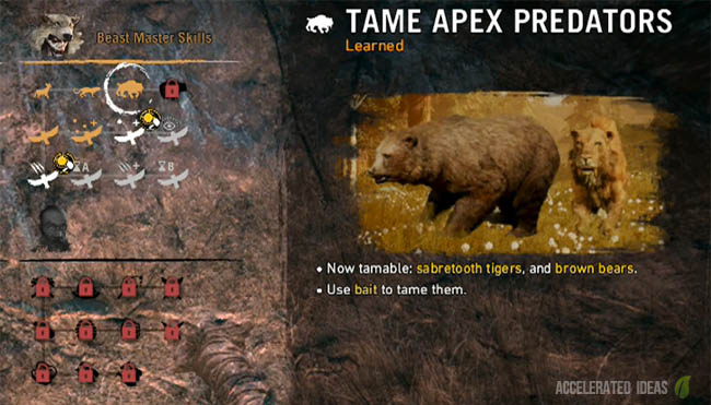 Far Cry Primal Where To Tame A Sabretooth Tiger Early In The Game