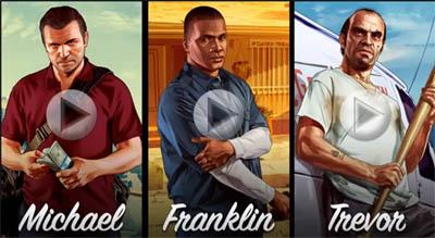 GTA 5 Video Novo - Michael, Franklin e Trevor Personagens