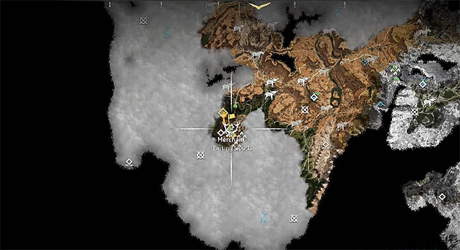 Meridian merchant map location