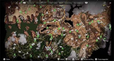 World map - West