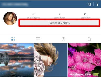 Editar seu perfil