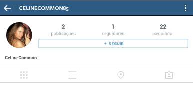 Instagram - Antes de seguir botão clicado