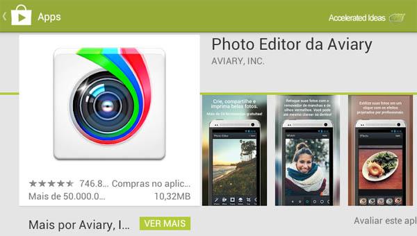 Google Play - Photo Editor da Aviary