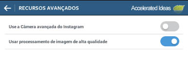 Instragm - use a camera do avancada do instagram