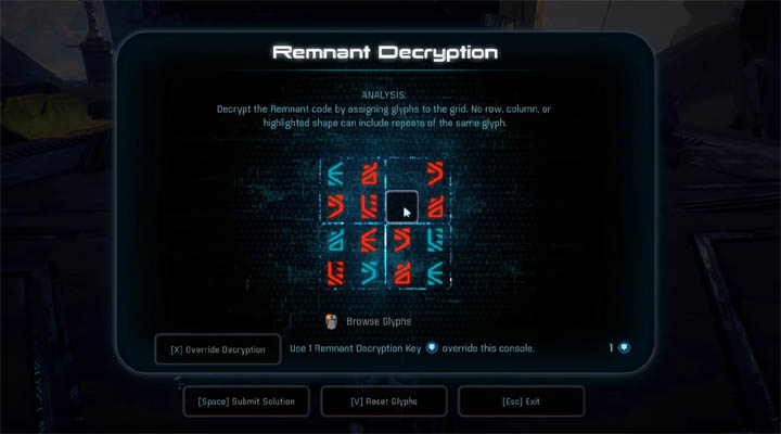 All Remnant Decryption Puzzle Solutions