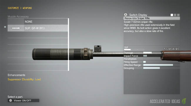 suppressor customization