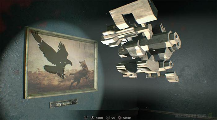 Where to find the Bird Shaped Item for the Projector Room Puzzle