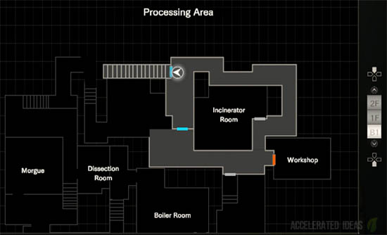 Processing Area map