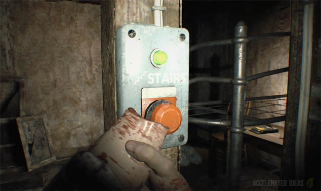 re7_stairs_button resident evil 7 how to find the fuse and get to the attic Horizons Journey into Space at gsmx.co