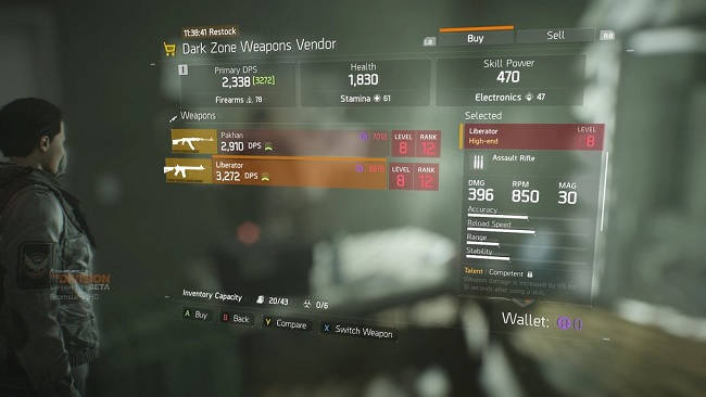 The Division - Pakhan and Liberator High-End Weapons in Open
