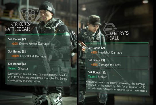 Striker and Sentry Gear Set