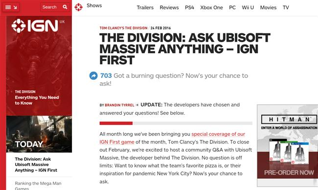 IGN AMA - No raids or end game content mentioned
