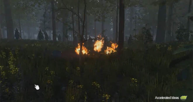 Molotov cocktail fire