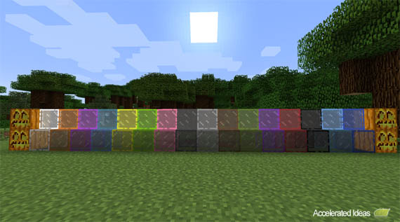 Minecraft 13w41a Features Stained Glass Crafting Recipe Included