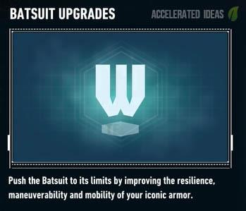 Batsuit upgrades