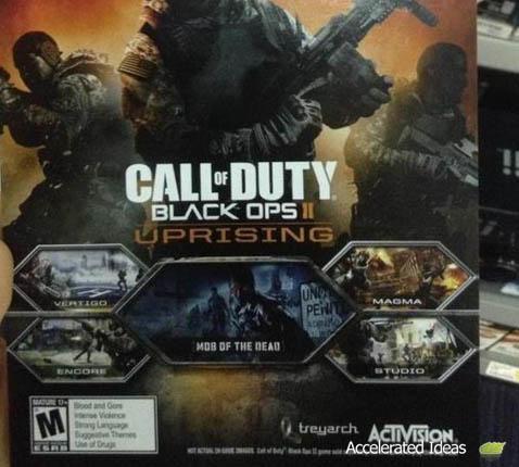 Best Buy Promo Card - Black ops 2 DLC Uprising