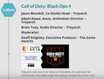 Black Ops 4 live event at E3 Coliseum