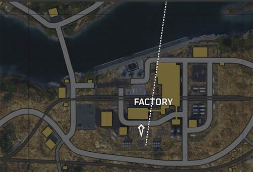 Factory helipad location