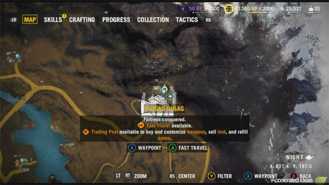 Far cry 4 buzzer map locations and spawn points accelerated ideas the fourth and final fortress is run by pagan min the main protagonist in far cry 4 its in the far north east corner of the map gumiabroncs Gallery