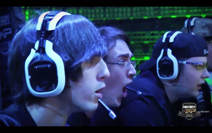 Gamer wearing headset during World Championships