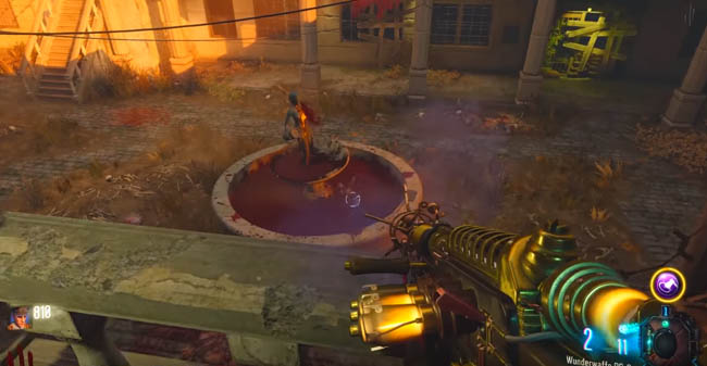 Verruckt blood fountain