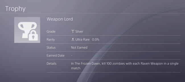 Weapon Lord trophy