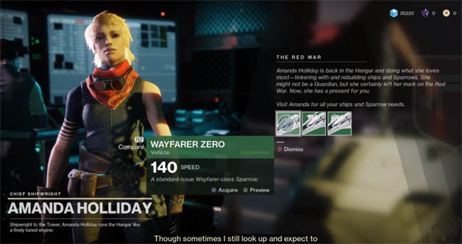 Amanda Holiday in Destiny 2