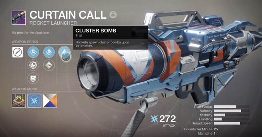 Curtain Call Rocket Launcher