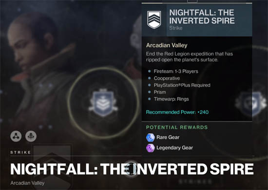 Nightfall - Inverted Spire modiifers