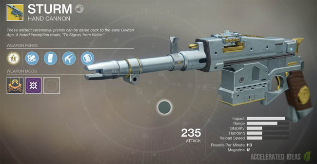 Sturm exotic weapon overview