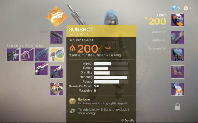 Sunshot exotic