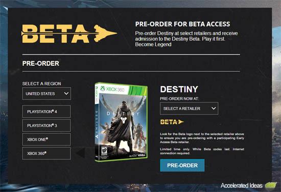 Destiny - Beta keys