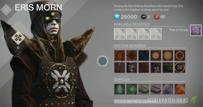 Destiny - Eris Quests, Weapons and Materials | Accelerated Ideas
