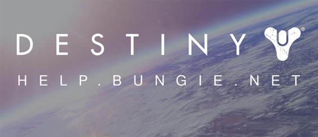 Bungie Help Website