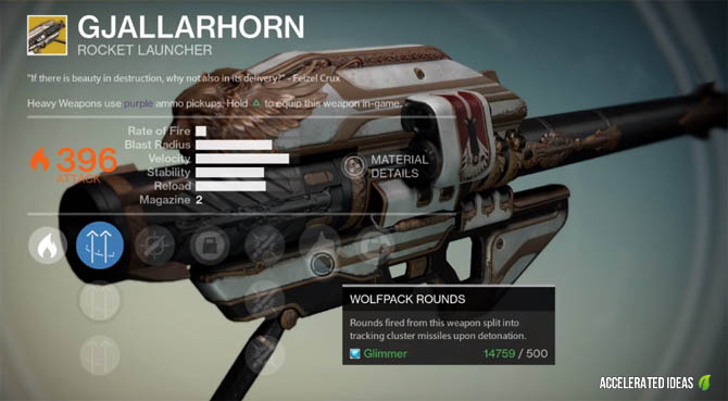 Destiny - Exotic Weapons and Where to find them