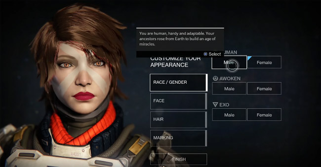Character face creation