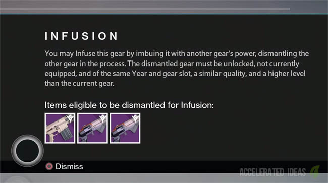 Infuse perk - in-game message