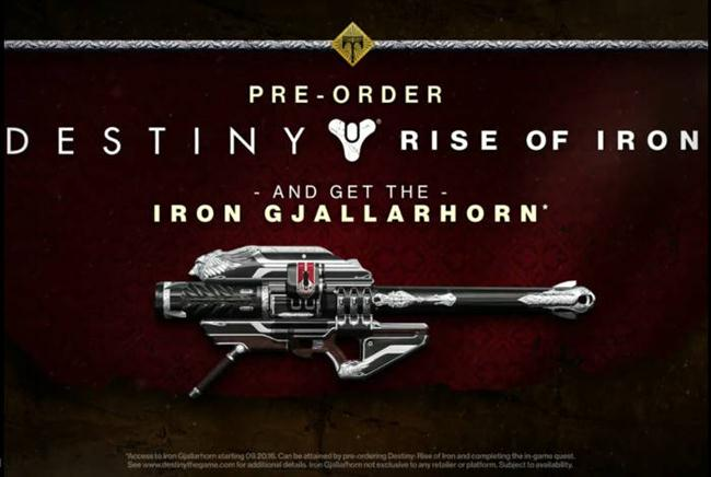 Destiny Rise of Iron - Iron Gjallarhorn Exotic