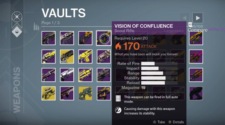 List of Destiny 1 Items that Carry Over to Destiny 2