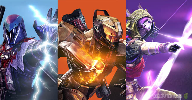 Destiny Taken King Subclasses - Sunbreaker, Nightstalker, Stormcaller