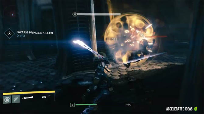 Destiny - Overcharged attack using sword