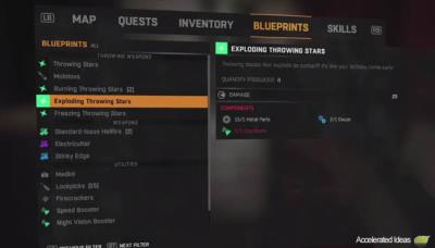 Dying light weapons upgrades and mods accelerated ideas dying light crafting and blueprints guide malvernweather Images