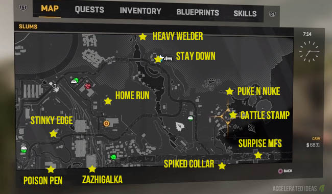 Dying light crafting and blueprints guide accelerated ideas dying light blueprint map north east slum malvernweather