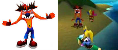 Fake Crash in the original Crash Bandicoot games