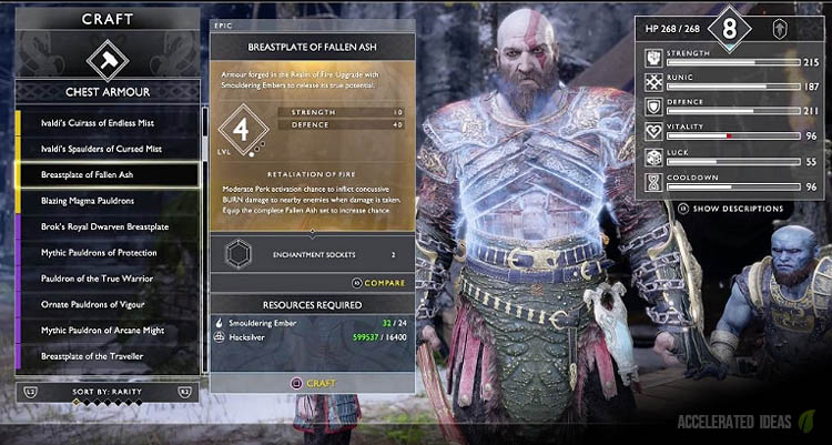 Of War How To Unlock The Best Armour Sets
