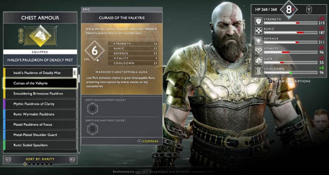 God Of War How To Unlock The Best Armour Sets